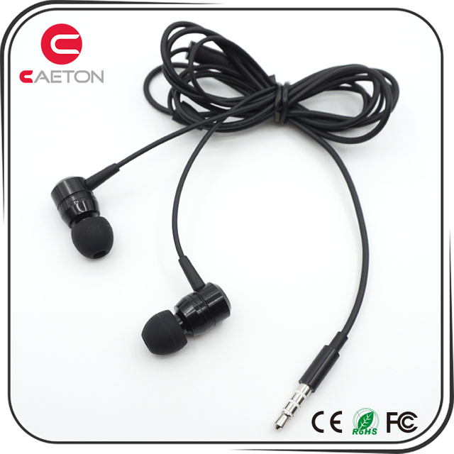 Cheap stylish high quality mobile phone handsfree metal earphone headphones wired sport headset