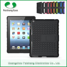 Convenient Rugged Shockproof Dual Layer Slim Hybrid Case cover with kickstand 8 colors for ipad 2 3 4