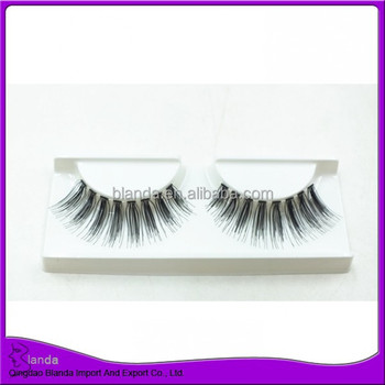 Natural style strip eyelash human hair lashes wholesale