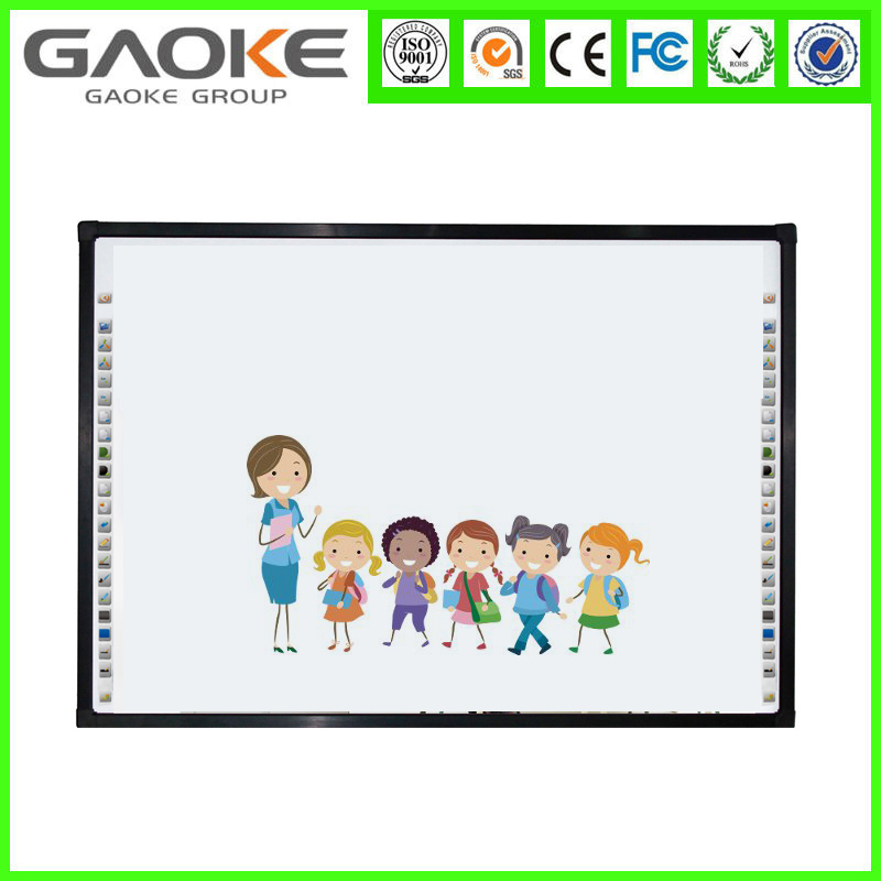 New model standard size 78 inch aspect ratio 4:3 four touch white board for school