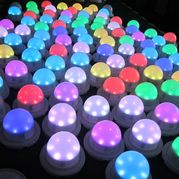 Battery operated remote control RGB SMD5050 under table led light