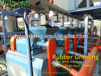 Best Selling Scrap tires recycling equipment for rubber grinder equipment