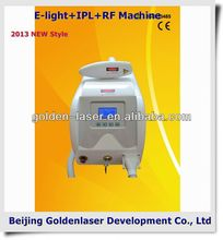 www.golden-laser.org/2013 New style E-light+IPL+RF machine all types hair removal one time