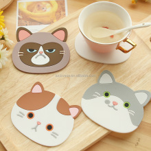 Bulk Wholesale Food Grade Silicone Drink Coaster Cup Coaster Cute Coffee Cup Mat/pad