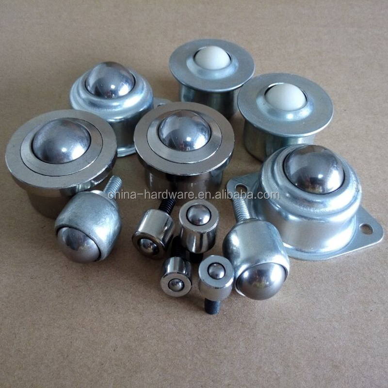 roller bearing 6201c3 with dia 22.22mm universal ball transfer unit ball table caster wheel SS304 SS440 ball caster