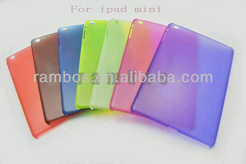 Colorful Plastic Hard Shell Back Cover Matte Case Skin for ipad mini