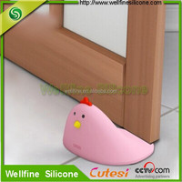 Cute chickens shape safty Silicone door stopped for Children