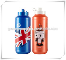 2017 New Designed Sport Water Bottle Promotional Logo Printed Eco-friendly Sports Plastic Water Bottle Beautiful Blue Color