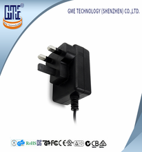 Shenzhen 2 Years Warranty GME CE CB Approval Plug in UK Style AC DC Power Adaptor