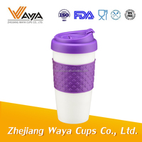 New product purple coffee mug with silicone lid