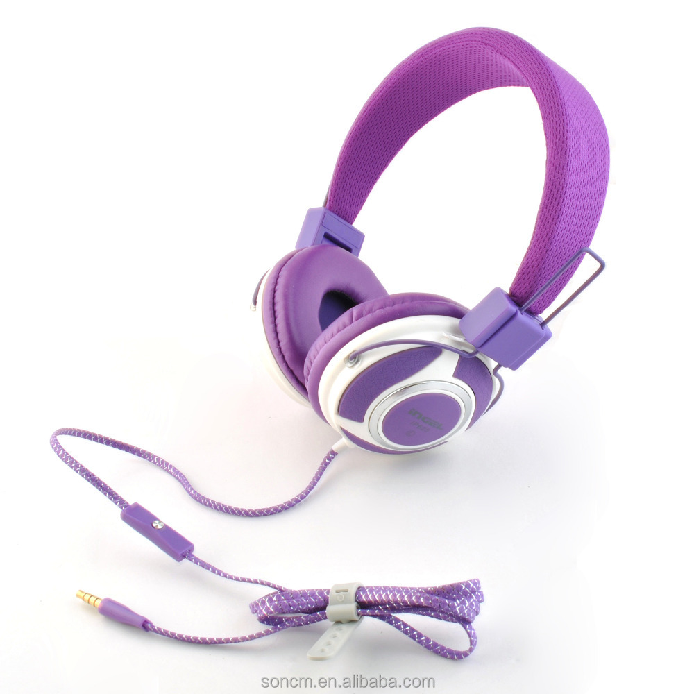 Fashion Headset IP625 Stereo Wired Headphones With single for kids