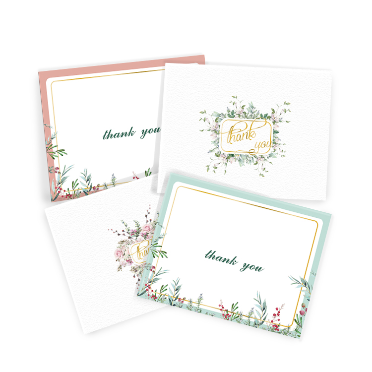 Handmade Stamp White Envelope Custom Thank You Cards With Black Envelope