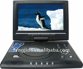 9 inch portable dvd player support usb game and tv
