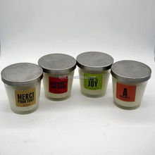 wholesale soy wax scented glass jar candles with screw top metal lids
