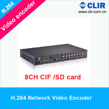 H.264 8ch cif codificador <span class=keywords><strong>de</strong></span> vídeo ip <span class=keywords><strong>de</strong></span> <span class=keywords><strong>red</strong></span> con sd card