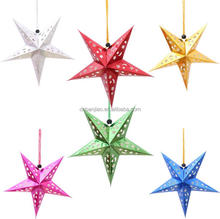 Hanging Christmas Decoration Star Paper Lanterns Small Wholesale Order Xmas Lanterns Star