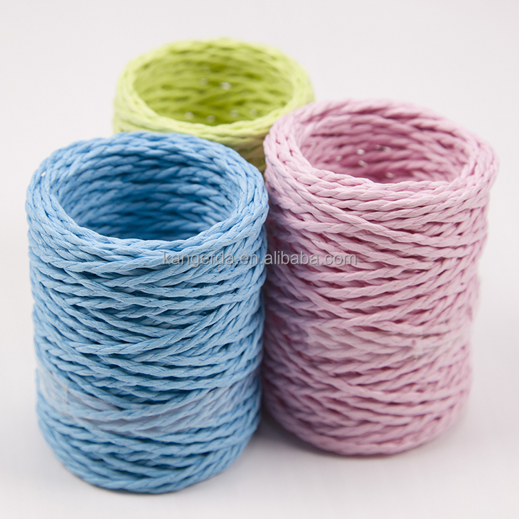 Colored Paper Ribbon Twisted Twine Craft Rope