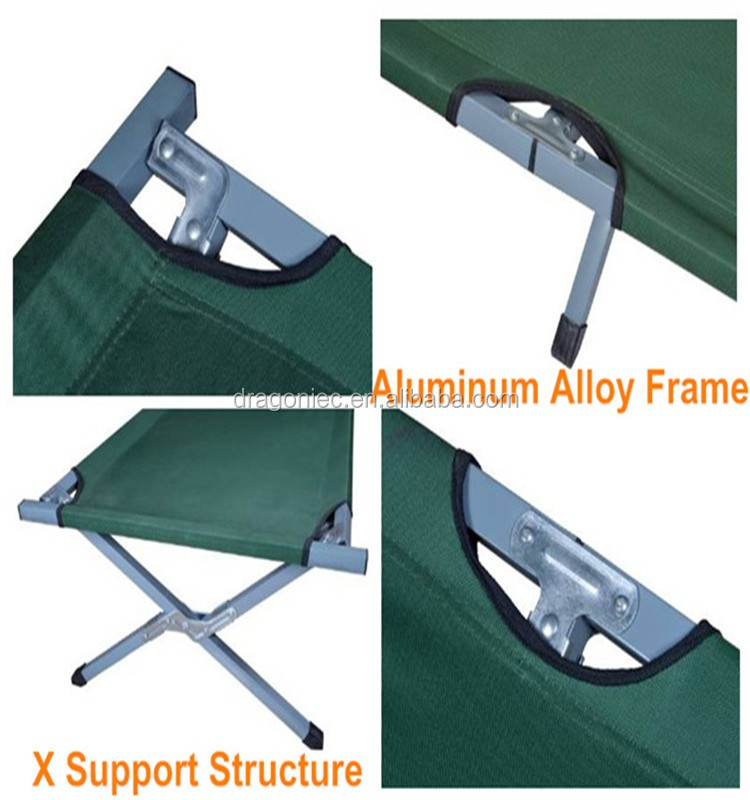 DW-ST099 CE approved Aluminum frame Army folding camping bed