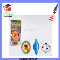 Top Quality Wholesale Cheap Football Plastic Toys Spinning Top with Light Music