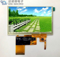 Shenzhen Gold Suppier Provided Anti-glare Digital 4.3 inch Capacitive Touch Screen Panel for Car Navigation Displays