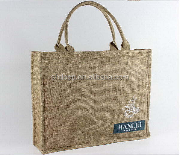 Cheap new products eco-friendly jumbo jute shopping bag