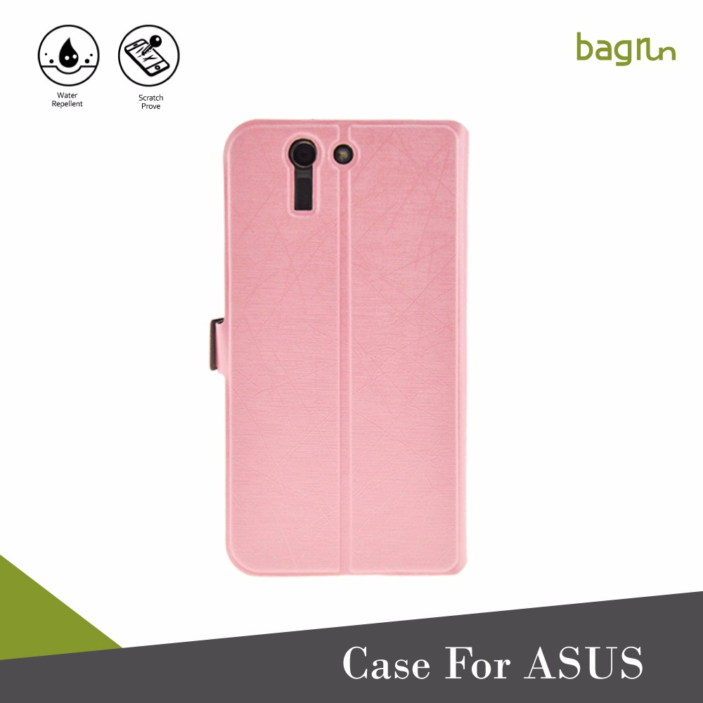 Wholesale PU Leather Wallet Card Slot Cell Phone Case For ASUS