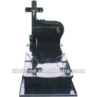 cross style black polished monument