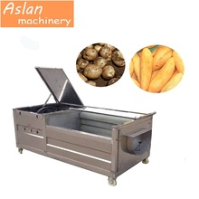 industrial potato carrot washing and peeling machine