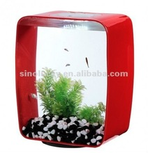 red color acrylic fish tank