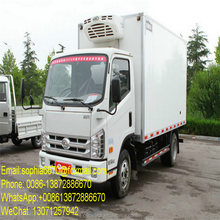 2017 latest Euro 3 Refrigerator truck 4x2 Forland refrigerated truck with manual transmission for sale