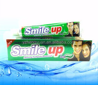 2016 red promitional 70g cool mint whitening smile up brand names toothpaste