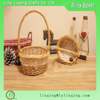 Mini round natural Fancy gift baskets /Cheap holiday gift baskets
