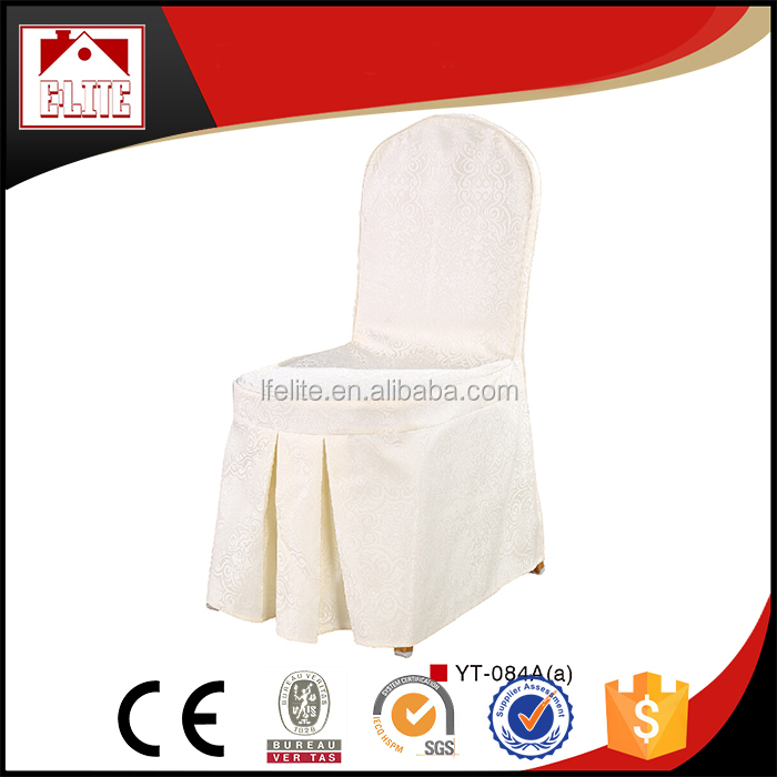 Banquet chair cover white /cheap chair covers / chair cover and table cloth ECD-121w