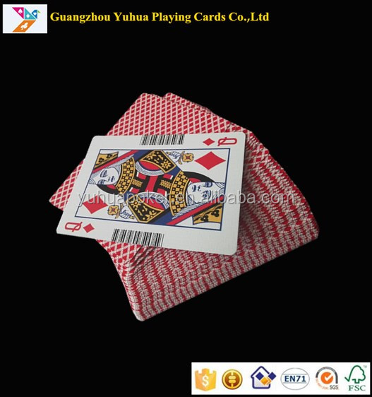 Factory OEM barcode playing cards paper casino poker YH27