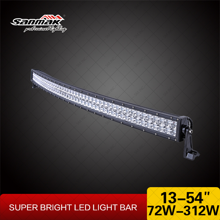 "Sanmak Nice Quality Waterproof Auto Spare Parts 50"" light bar CE RoHS IP67 SGS TUV 288w LED 4wd Light Bar"