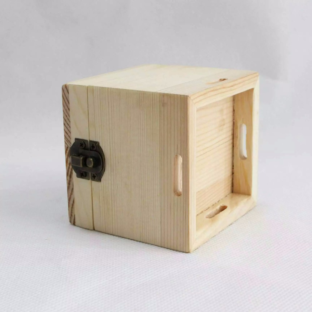 Mini wooden luxury custom storage jewelry gift box whith hinged lid