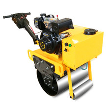 mini diesel engine used single drum road roller with cheap price