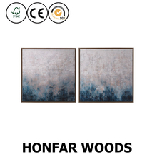Nordic style landscape canvas art painting for hotel hallway wall art