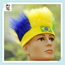 Patriotic Colors Team Sports Fan Cheap Synthetic Party Wigs with Headband HPC-1183