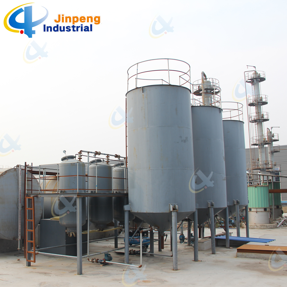 Black Pyrolysis Tire Oil Regeneration Plant to Diesel 20 Tons Per Day
