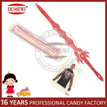Children Game Tattoo Paper with Plastic Toy Candy Swords