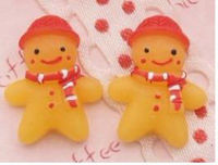 Christmas Gingerbread Man Cabochons