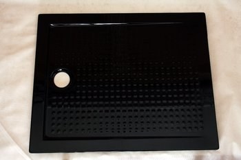 DOMO black acrylic antislip shower tray