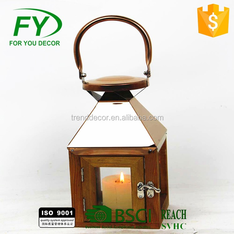outdoor table decorative hanging wooden lantern wedding