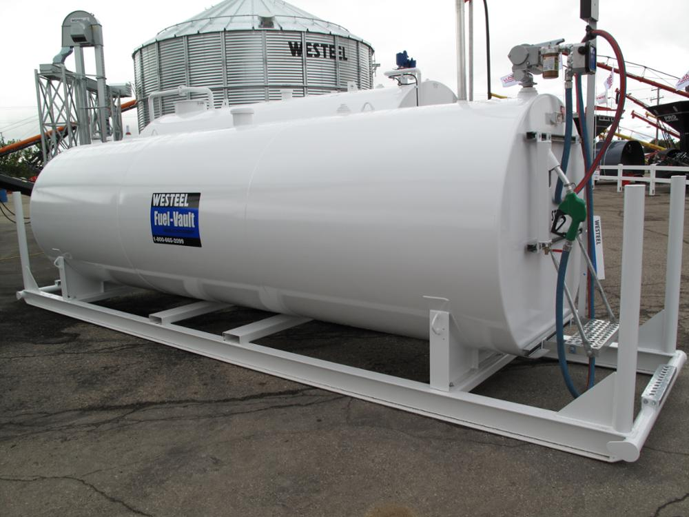 storage diesel carbon steel fuel diesel tank with double wall