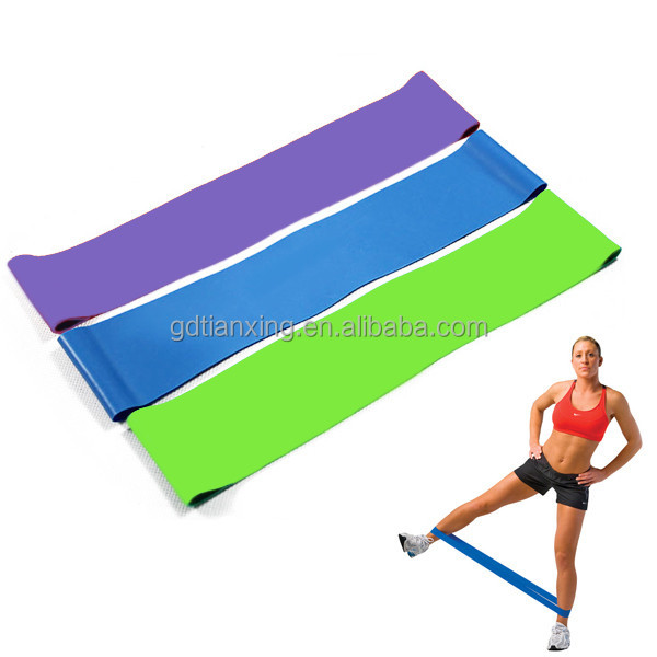 5pcs 5 different level Resistance Loop Band Exercise Yoga Bands Rubber Fitness Training Strength