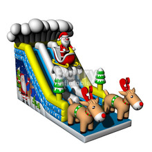 Christmas Festival Inflatable Dry Slide with factory price