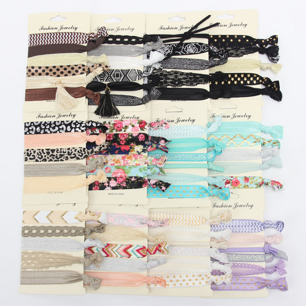 DIY lady girls custom print wholesale <strong>hair</strong> <strong>accessories</strong> women no crease ponytail holders elastic ribbon <strong>hair</strong> ties with <strong>hair</strong> band