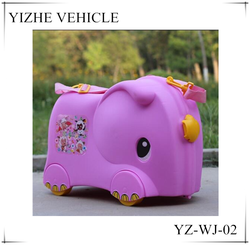2016 Wholesale ride-on luggage /Cheap kids ride-on luggage / elephant kids ride-on toy luggage