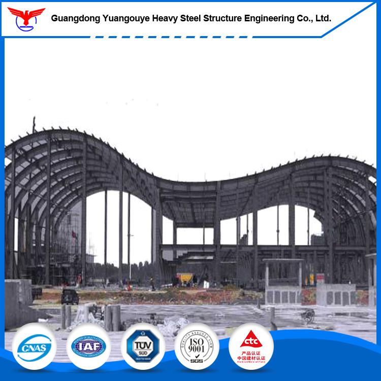 Foshan factory large multi-storey steel building steel frame structure for Gymnasiums design for swimming pool